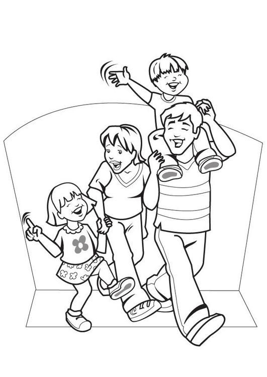 family coloring pages printable - Enjoy Coloring | pictures of ...