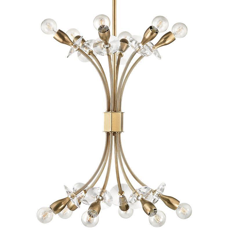 Hudson Valley Lighting 2712 Alexandria 12 Light Chandelier Aged Brass Indoor Lighting Chandeliers