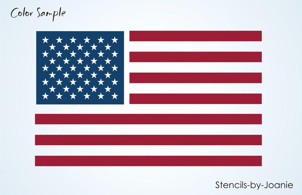 American Flag Star Stencil Printable Elegant Stencil 6 Amercian Flag Stripes 50 Stars Primitive In 2020 Star Stencil American Flag Stars American Flag