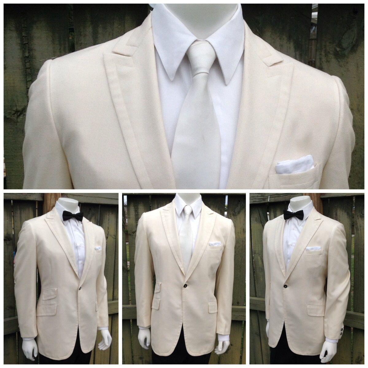 On hold Vintage Mens Cream / Off White Tuxedo Jacket - Tux Jacket ...
