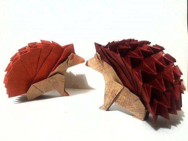 Photo of Igel Origami Papier Handwerk – Mein Papier Handwerk