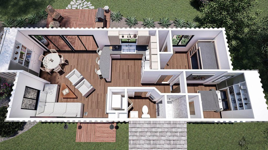 4 Shipping Container Home Floor Plans Living in a Container