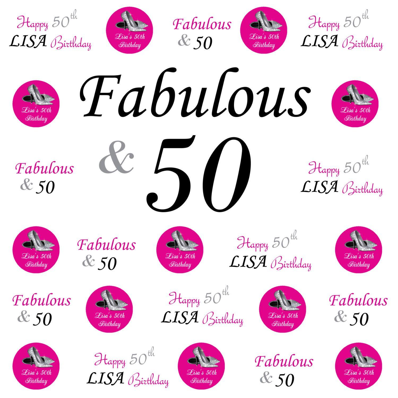 50th birthday banner 50th birthday backdrop birthday step and