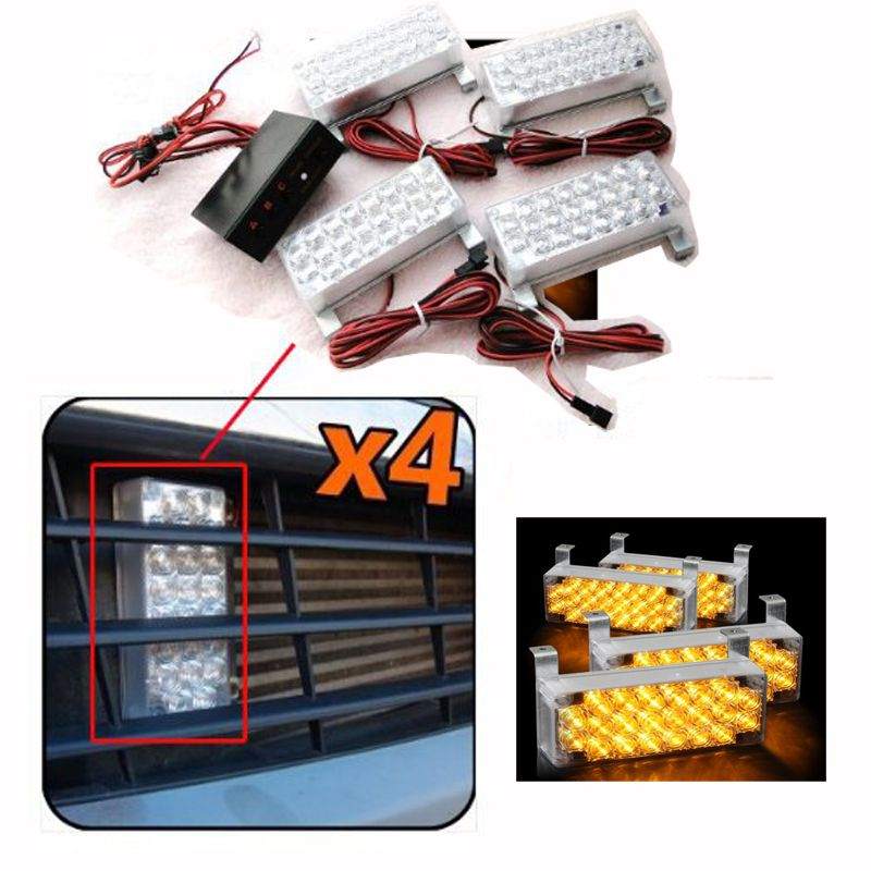 Strobe Lights For Cars Enchanting 88 Led Yellow Strobe Emergency Flashing Warning Light For Car Truck
