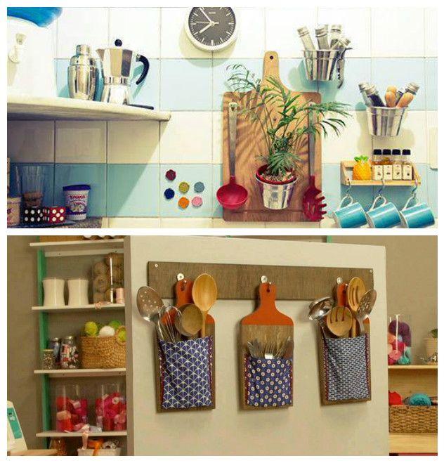 12 ideas creativas para hacer manualidades con tablas de for Manualidades para la cocina
