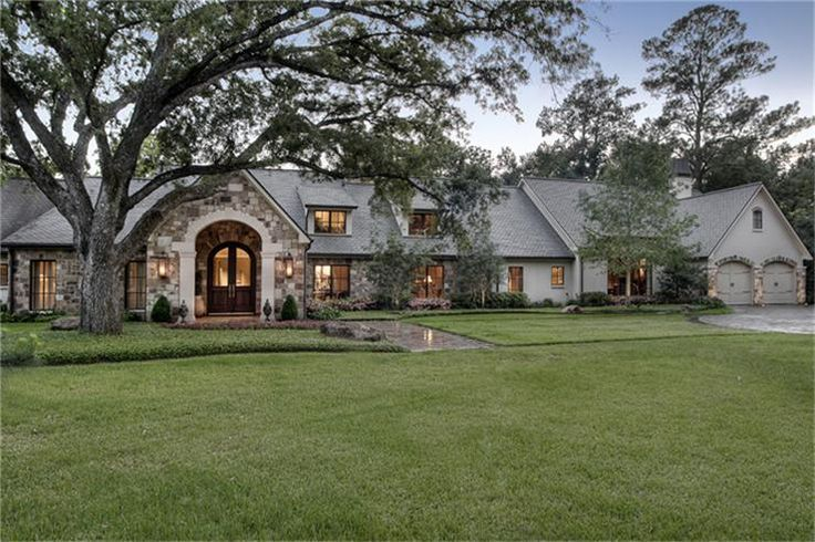 Gorgeous Single Level Home Google Search Brick House Plans Ranch Style Homes Dream House Decor
