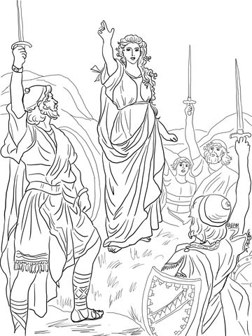 Deborah Leads Israel Coloring Page From The Prophetess Category Select 20946 Printable Crafts