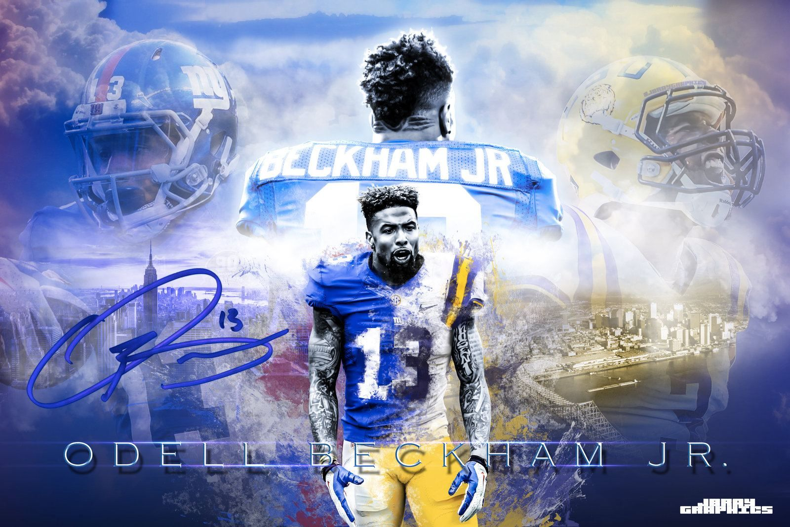 This Is My Back Round On My Computer Odell Beckham Jr Wallpapers Beckham Jr Odell Beckham Jr