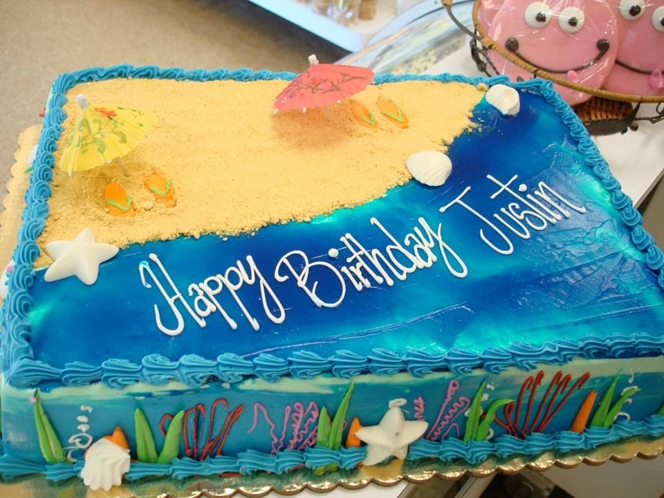 Beach Sheet Cakes images