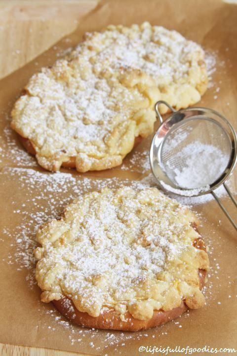 Streuseltaler mit Vanillecreme #breadrecipessweet