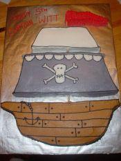 awesome pirate boy cake