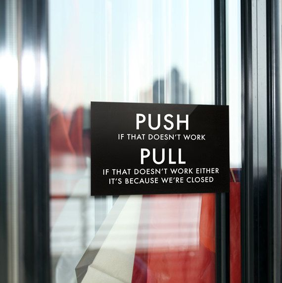 Funny Door Sign Joke Entrance Exit Signage For The Office Or Home