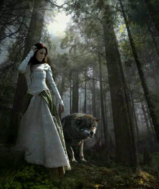 Miria learning to walk with wolves. In order to learn how to rule as Queen, she had to learn her kingdom, through Ylvana.