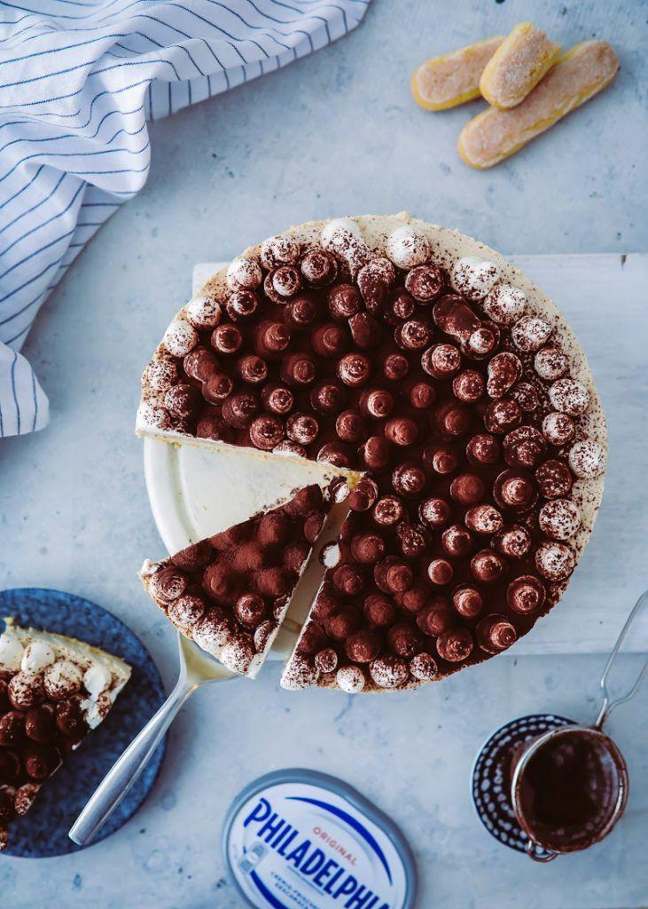 Cappuccino Philadelphia Torte - Käsekuchen aus dem Kühlschrank ohne ...