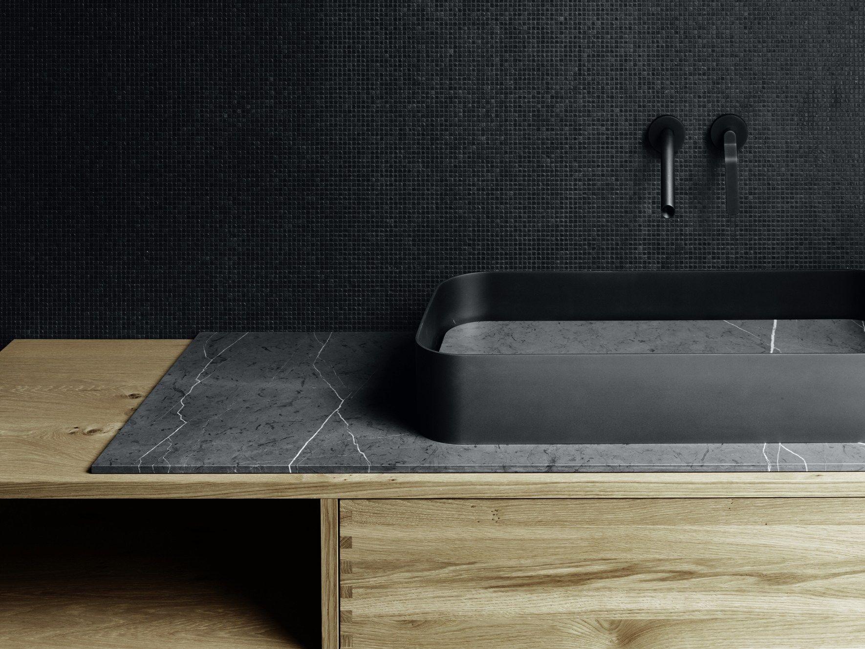 Vasque à poser rectangulaire en tôle GARDEN   Lavabo - Boffi   Bld ...