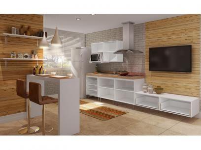 Kit Cozinha Completa Moveis Ravena 7 Portas 6 Gavetas Com As