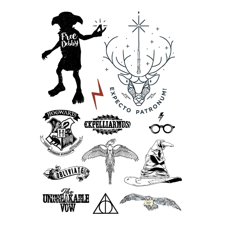 Harry Potter Tattoos Temporary Idea Styles Offizielle Tattoo Cinereplicas Ad Harry Potter Bilder Harry Potter Tattoos Harry Potter Zeichen