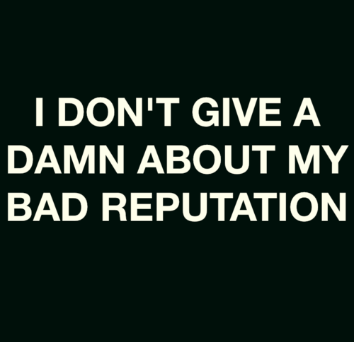 Reputation Quotes Amusing I Don't Give A Damn About My Bad Reputation  Moí  Pinterest  Oc .