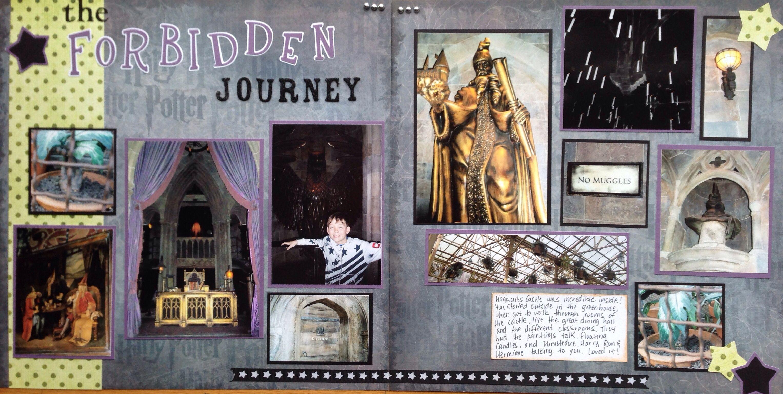 Journey scrapbook ideas - Layout The Forbidden Journey Scrapbook Com