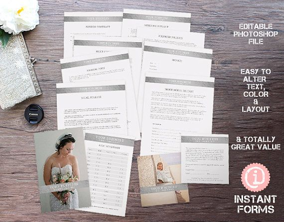 Photography Contract and Business Release Forms - IF138 - INSTANT - photographer release forms