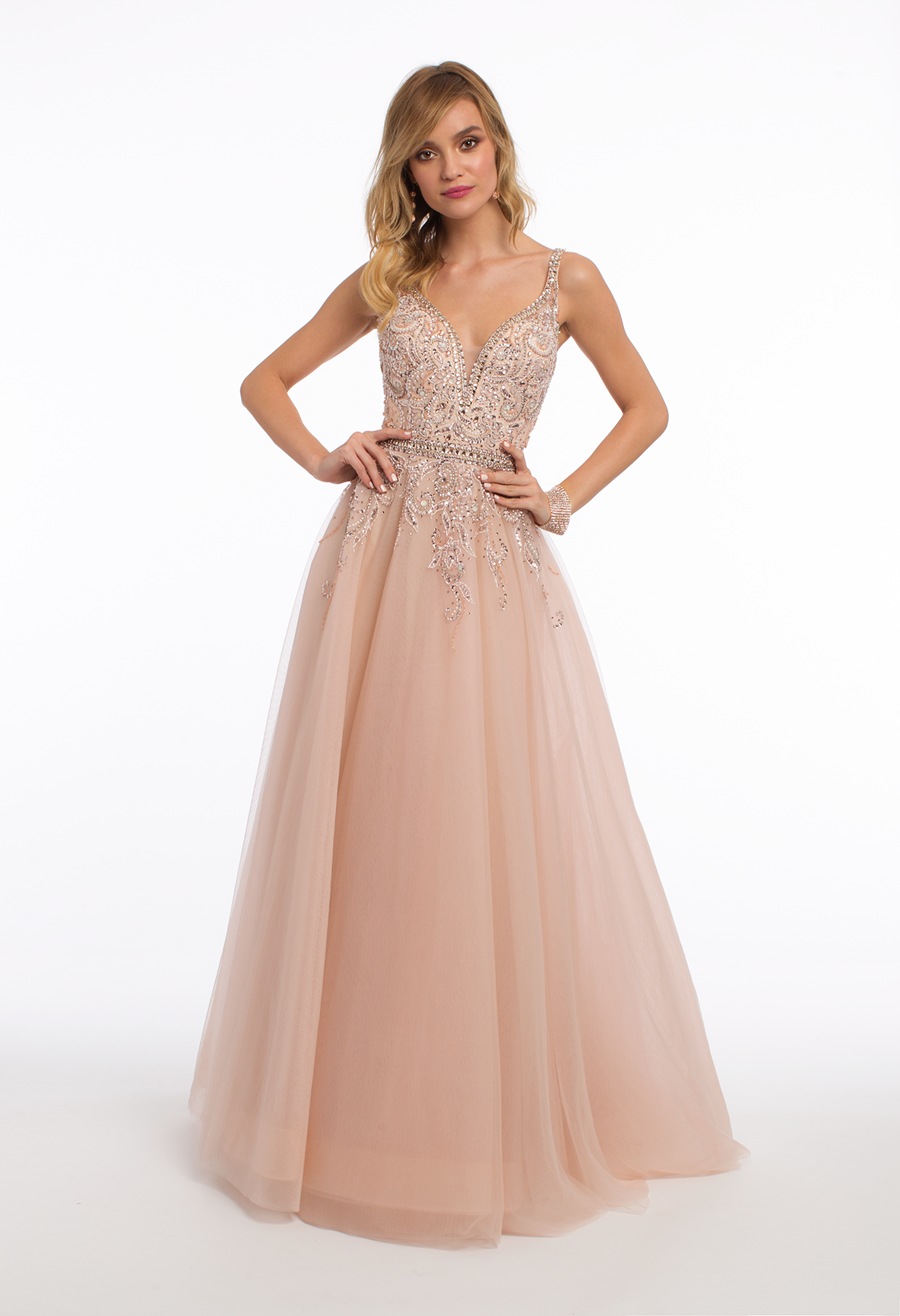 Sweetheart beaded tulle ballgown dress pinterest plunging