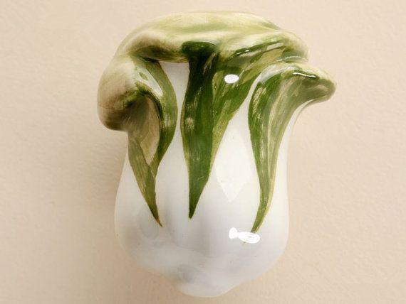 Cabbage Knobs Drawer Knob Fruit Vegetable Knob by ARoseRambling