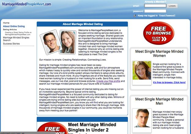 Marriage minded people login