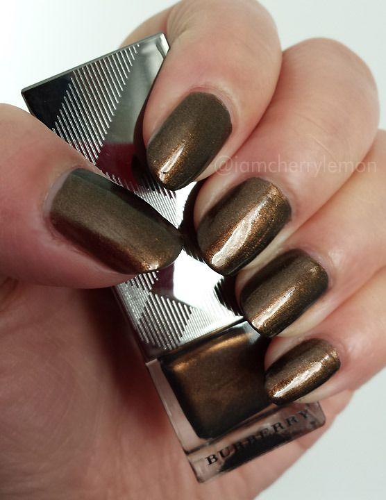 Yay new nail polishes! Burberry Nail Polish in Metallic Khaki photo ...