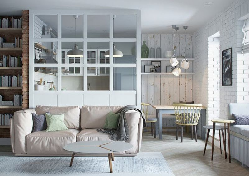 Mini Appartamento In Azzurro Bianco E Legno Vista Del