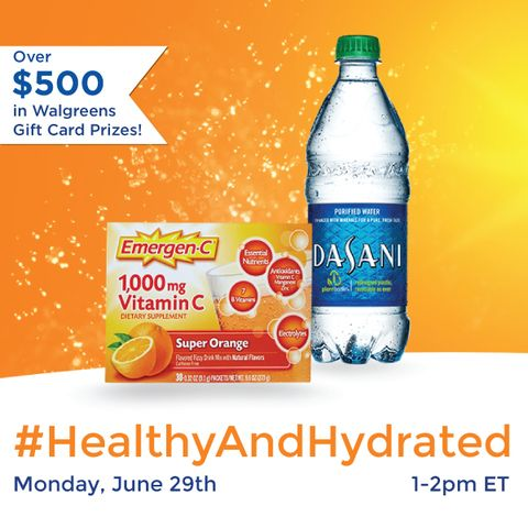 The summer heat can take a lot out of you! Join us for the #HealthyAndHydrated Twitter Party June 29th from 1-2pm ET as we talk about tips and tricks to stay active during the summer. RSVP/Rules - http://www.sofabchats.com/parties/532-twitter-party. AD