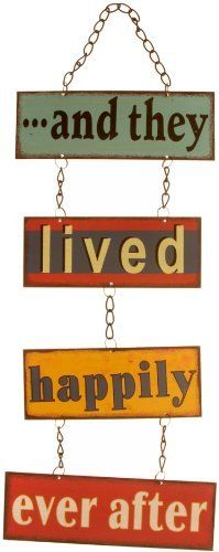 And They Lived Happily Ever After Retro Metal Hanging Sign by Windhorse, http://www.amazon.co.uk/dp/B002VF0XXG/ref=cm_sw_r_pi_dp_YCW5sb10NV787
