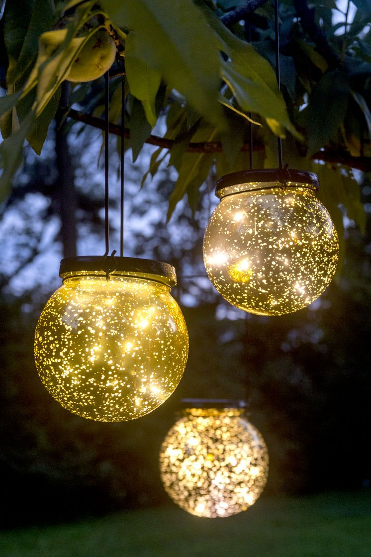 Solar Fairy Dust Ball Globe lights, Glass globe