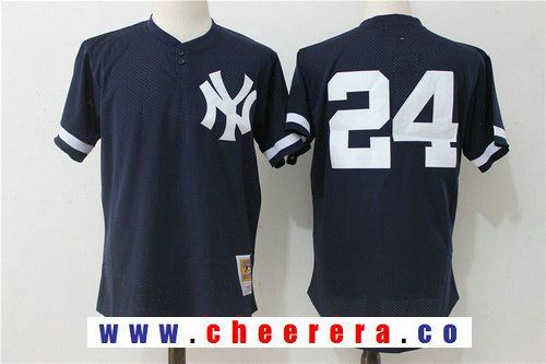Men s New York Yankees  24 Gary Sanchez Navy Blue Throwback Mesh Batting  Practice Stitched MLB 77120e66b