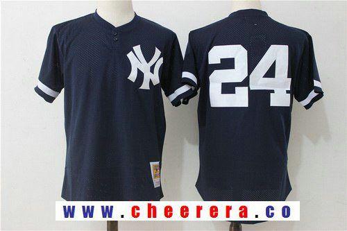 Men s New York Yankees  24 Gary Sanchez Navy Blue Throwback Mesh Batting  Practice Stitched MLB 77120e66b