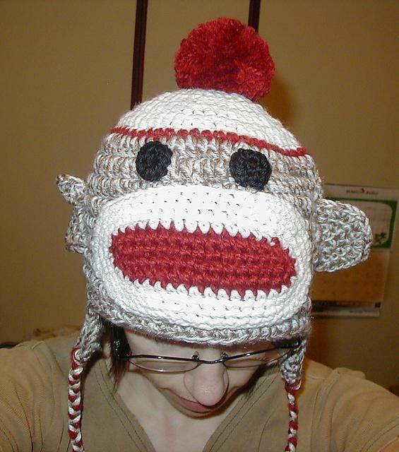 Sock Monkey Hat Pattern Via Craftsy Crochet Pinterest