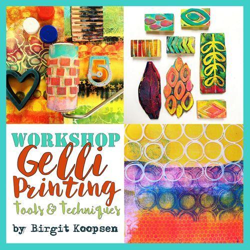 Flyer workshop gelli tools