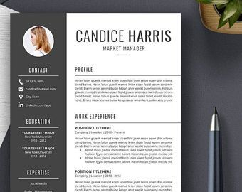 Professional Resume Template CV Template Cover Letter MS   Cover ...