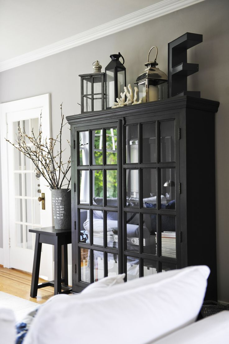 Formal Living Room Will Be All Black And White Farmhouse Chic! (love The  Lanterns And Letters On Top Of Cabinet  Would Be Cool On Top Of Ours. Part 84