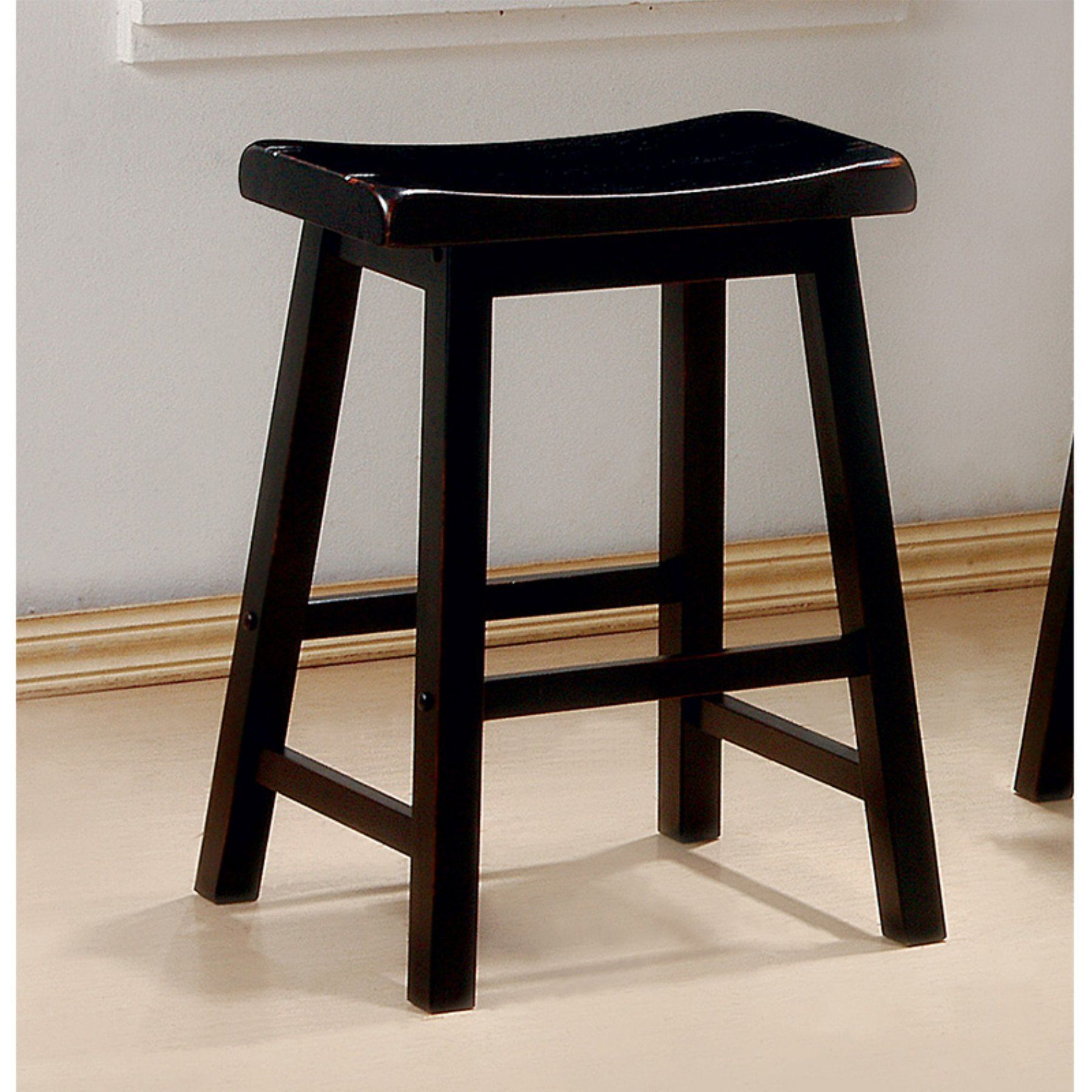 Winsome Wood Satori Saddle Seat Stool 24 Inch Multiple Finishes