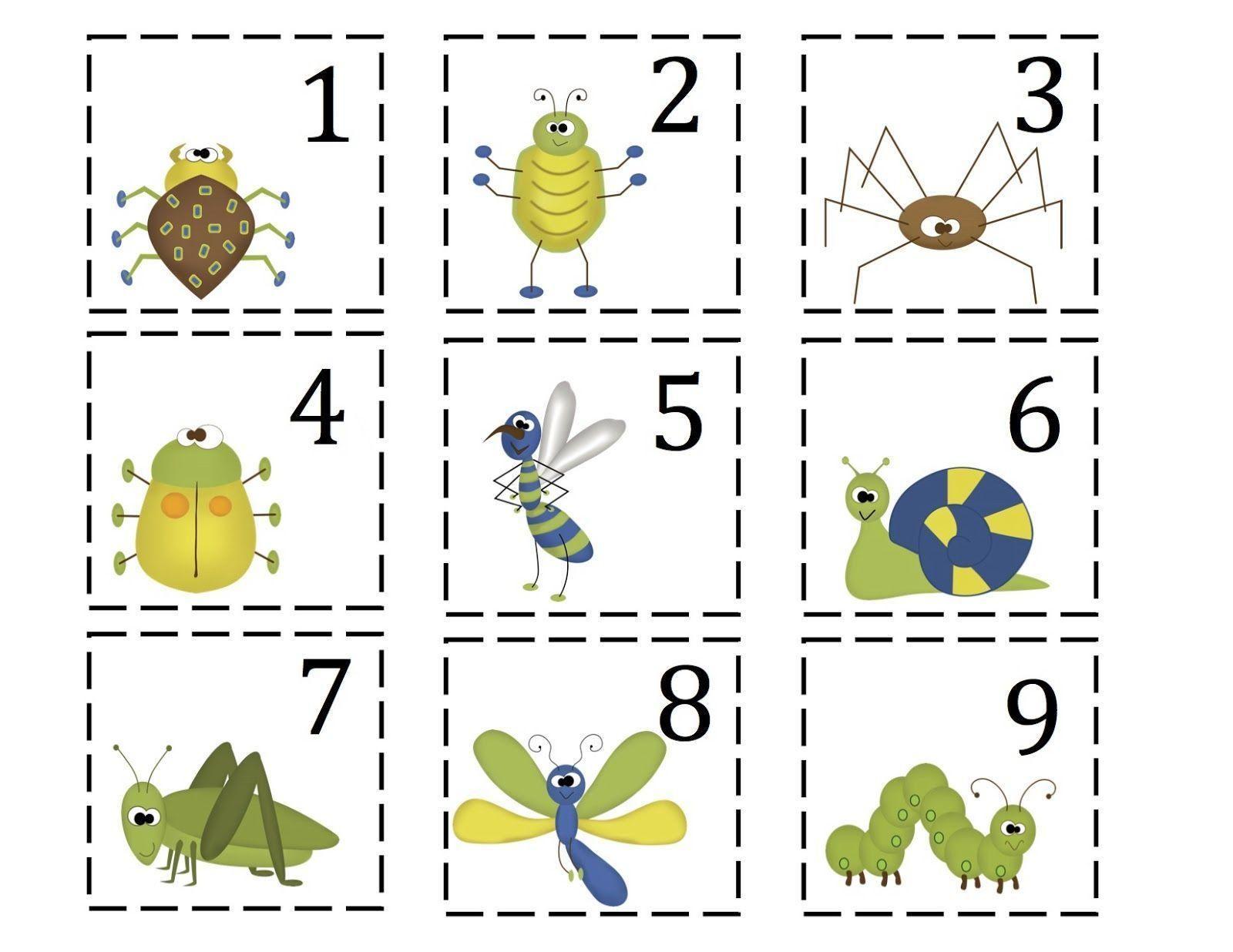 Free Printable Preschool Bug Worksheets 1 In