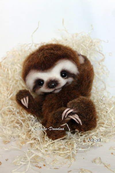 Baby Sloth by Ljudmila Donodina