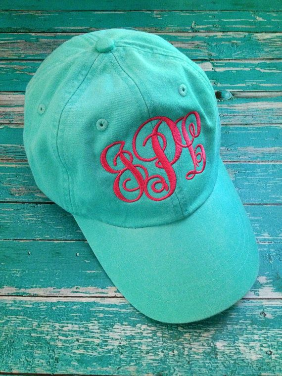 ladies monogrammed baseball cap personalized your choice thread hat color embroidered caps etsy hats cheap