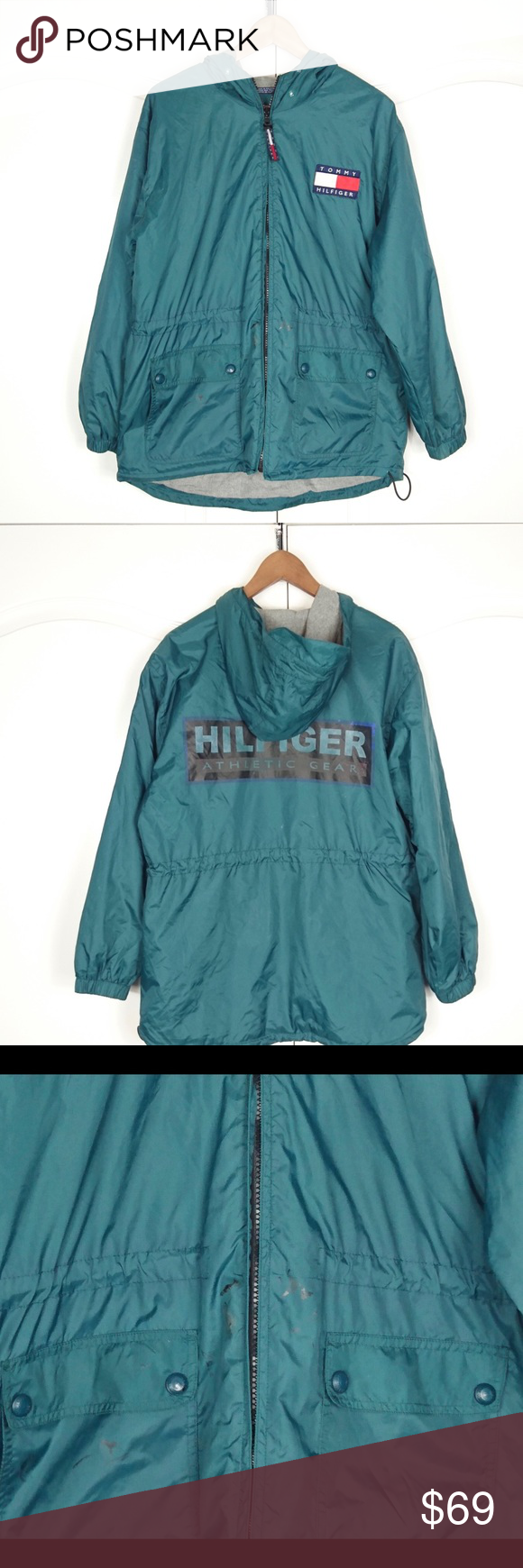 Tommy hilfiger colorblock vintage windbreaker xl tommy hilfiger