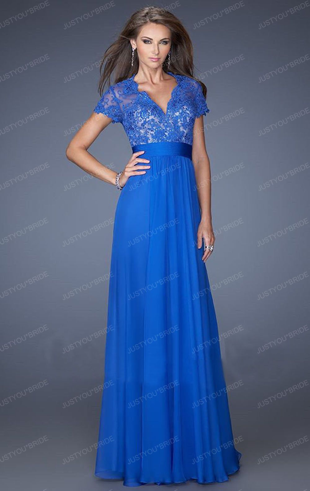 56431b01856 Sexy Long Chiffon Lace Evening Formal Party Cocktail Bridesmaid Prom Gown  Dress