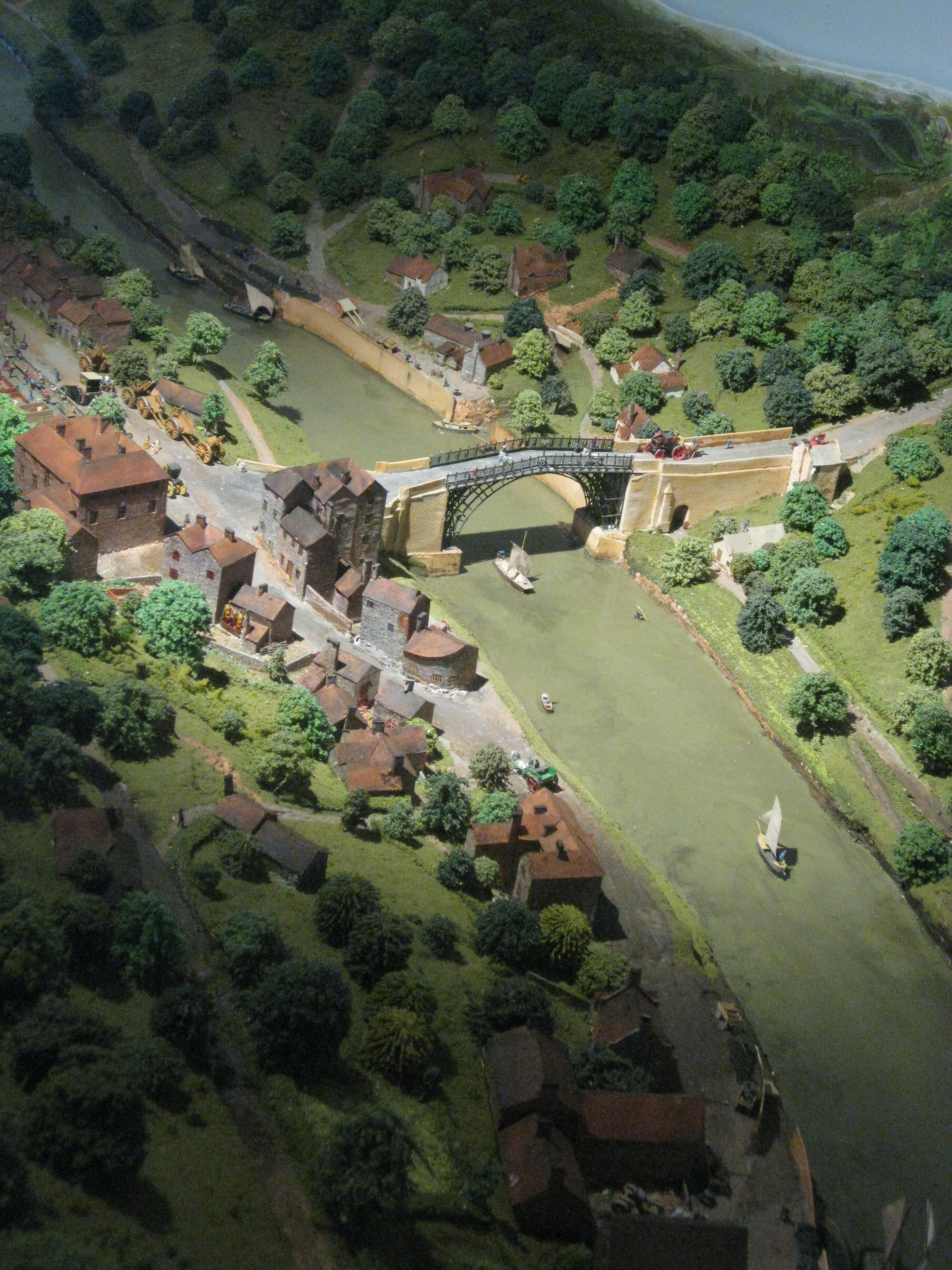 Incredible model of the Ironbridge Gorge in the Museum of The Gorge.