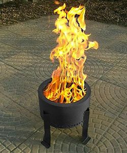 The Flame Genie Pellet Fire Pit S Unique Burning Experience Wood Fire Pit Outdoor Fire Pit Fire Pit