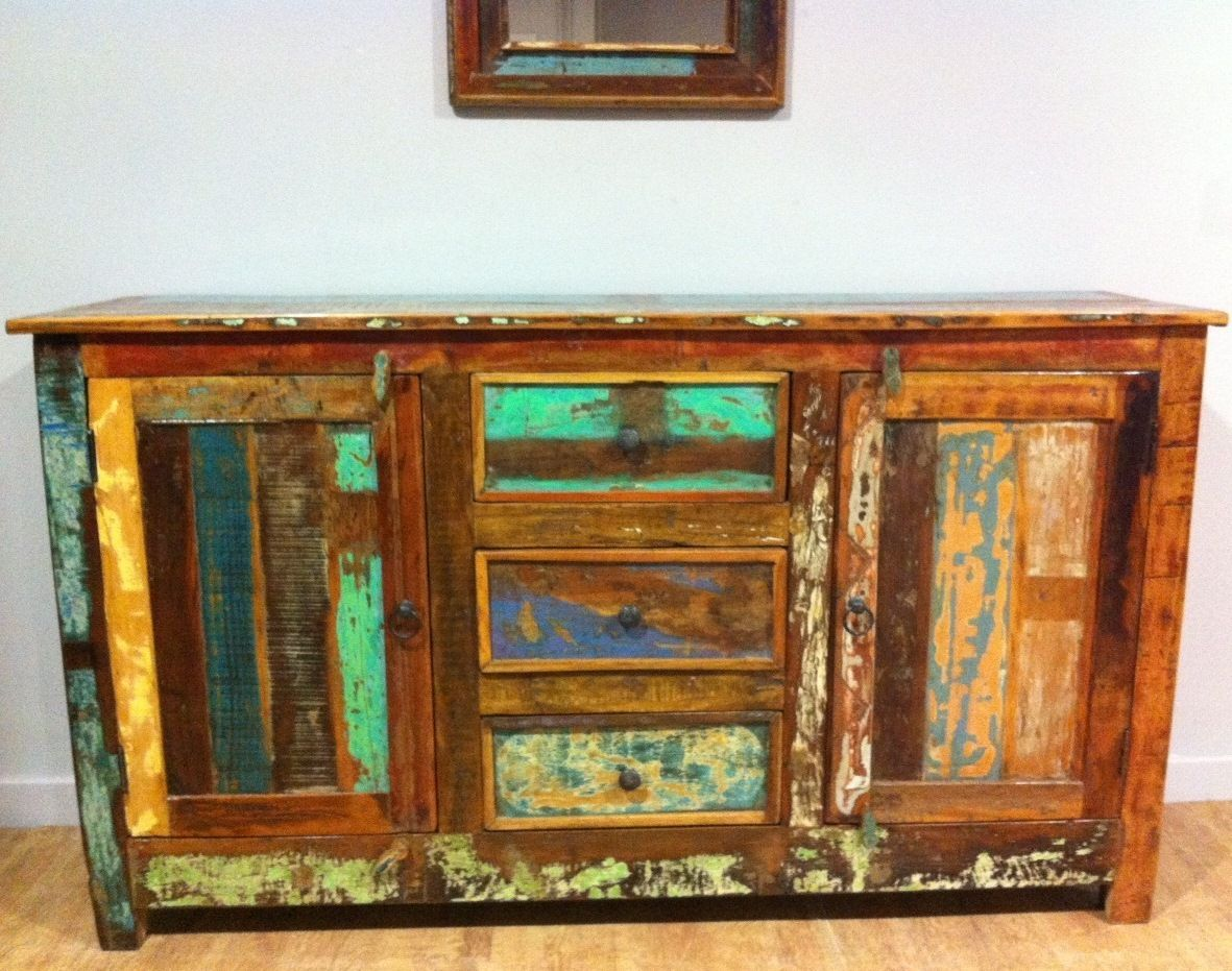 Go green with our new reclaimed teak western decor furniture available - Www Jodhpurtrends Com Indian Reclaimed Wood Sideboard