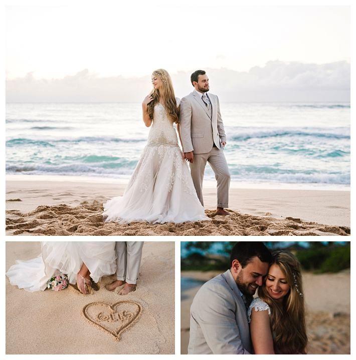Bride In A Modest Wedding Dress At A Beach Wedding