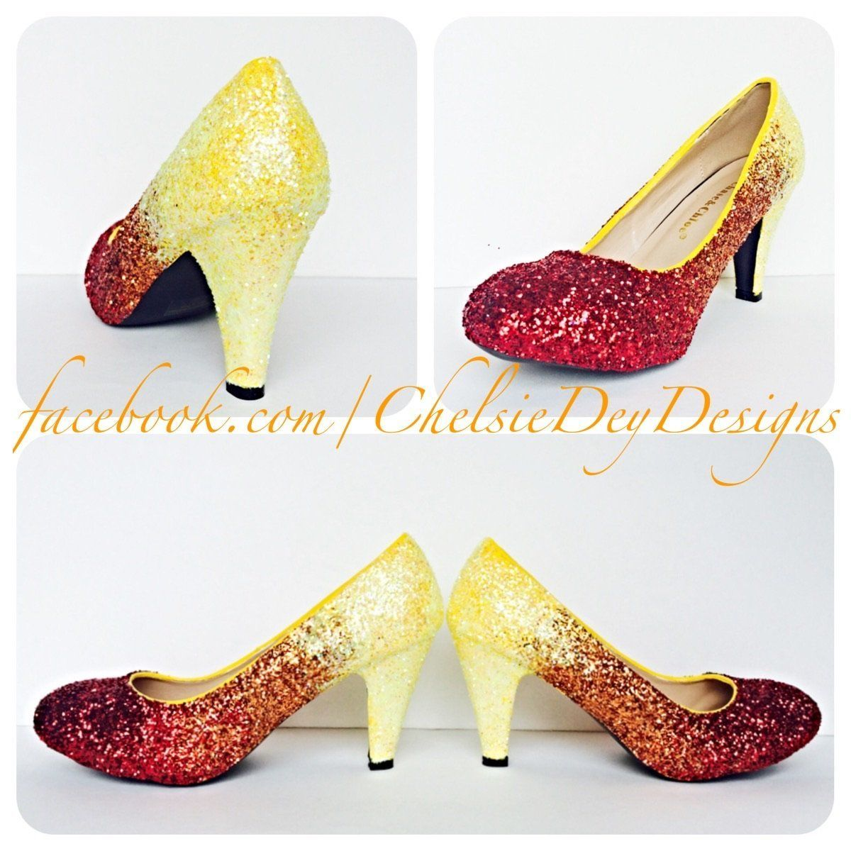 ... sleek ... details for de13c ed0de Ombre Glitter Wedding High Heels fd9398cf8249