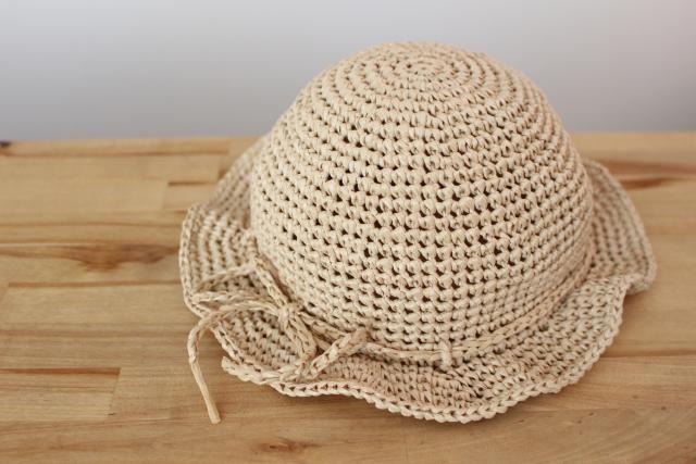 編み 図 帽子 子供